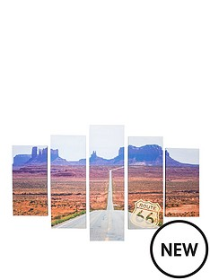 graham-brown-route-66-printed-canvas-set-of-5