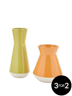 set-of-2-vases-greenorange
