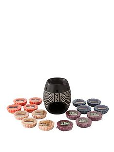 yankee-candle-african-etched-ceramic-melt-warmer-with-16-melts