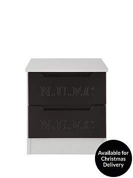 newcastle-united-2-drawer-bedside-cabinet