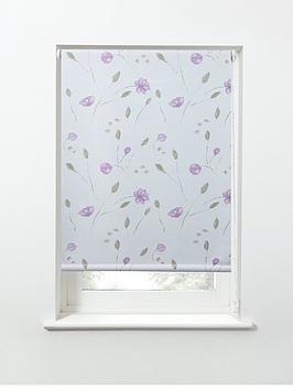 summer-flower-printed-blackout-roller-blind-pink