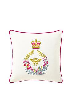 joules-bath-stripe-bee-embellished-cushion-natural
