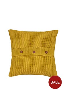 joules-moss-stitch-cushion-yellow