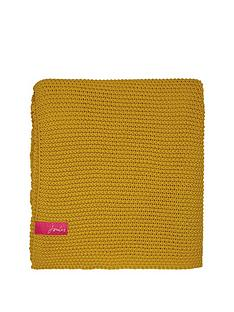 joules-moss-stitch-throw-yellow