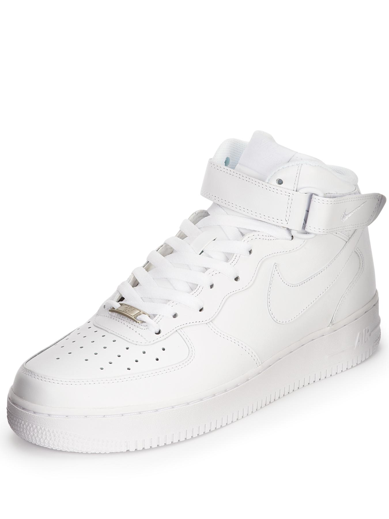 Air Force 1 Mid Trainers - White, White
