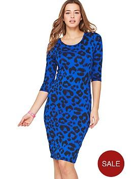 love-label-34-sleeve-leopard-bodycon-midi-dress