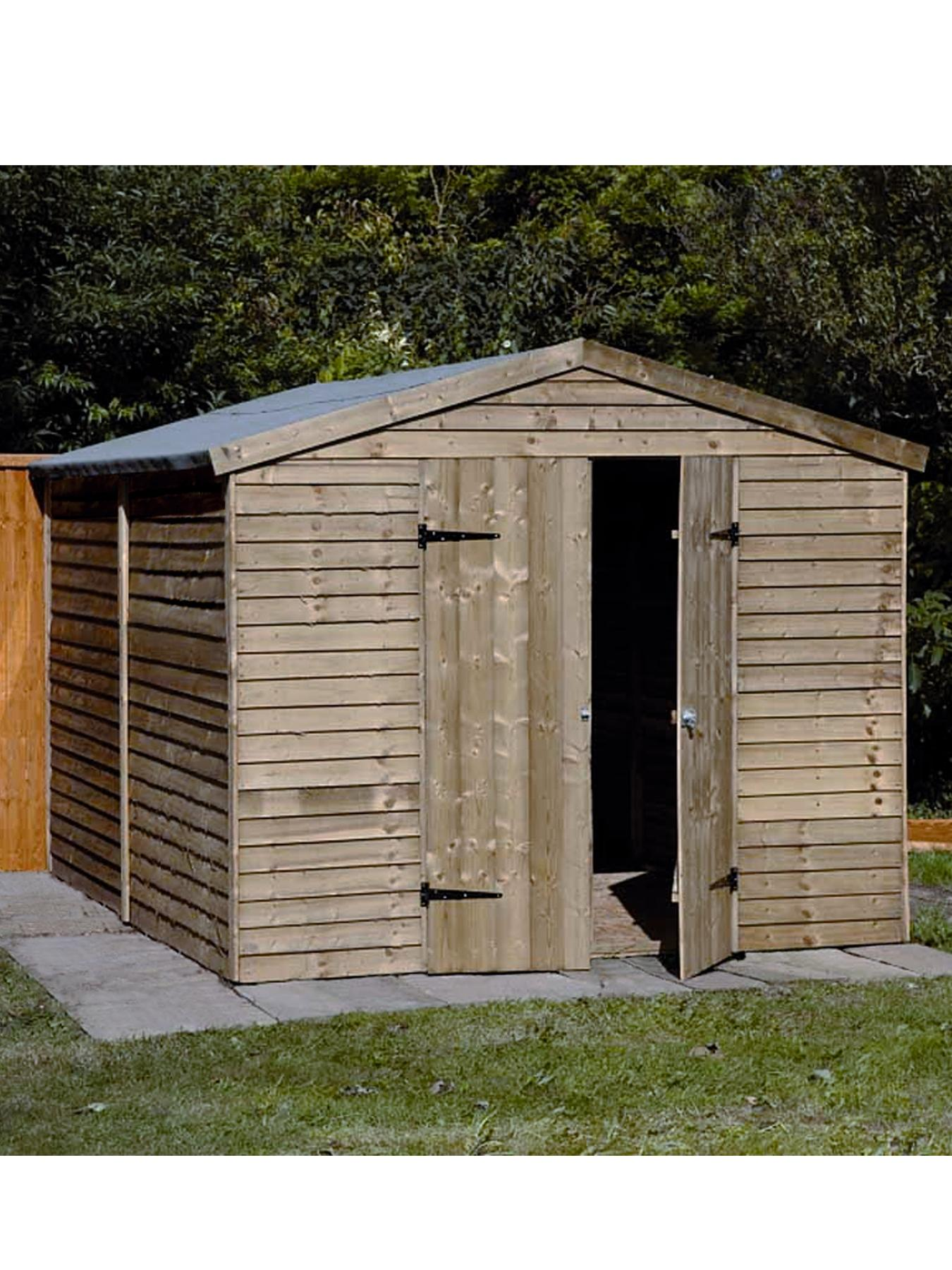 10 x 8 ft Double Door Overlap Shed - Assembly Options Available