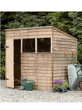forest-7-x-5-ft-pent-roof-2-styrene-windows-garden-shed-assembly-options-available