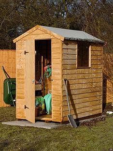 forest-6-x-4-ft-larchlap-premium-single-door-with-1-styrene-window-overlap-shed