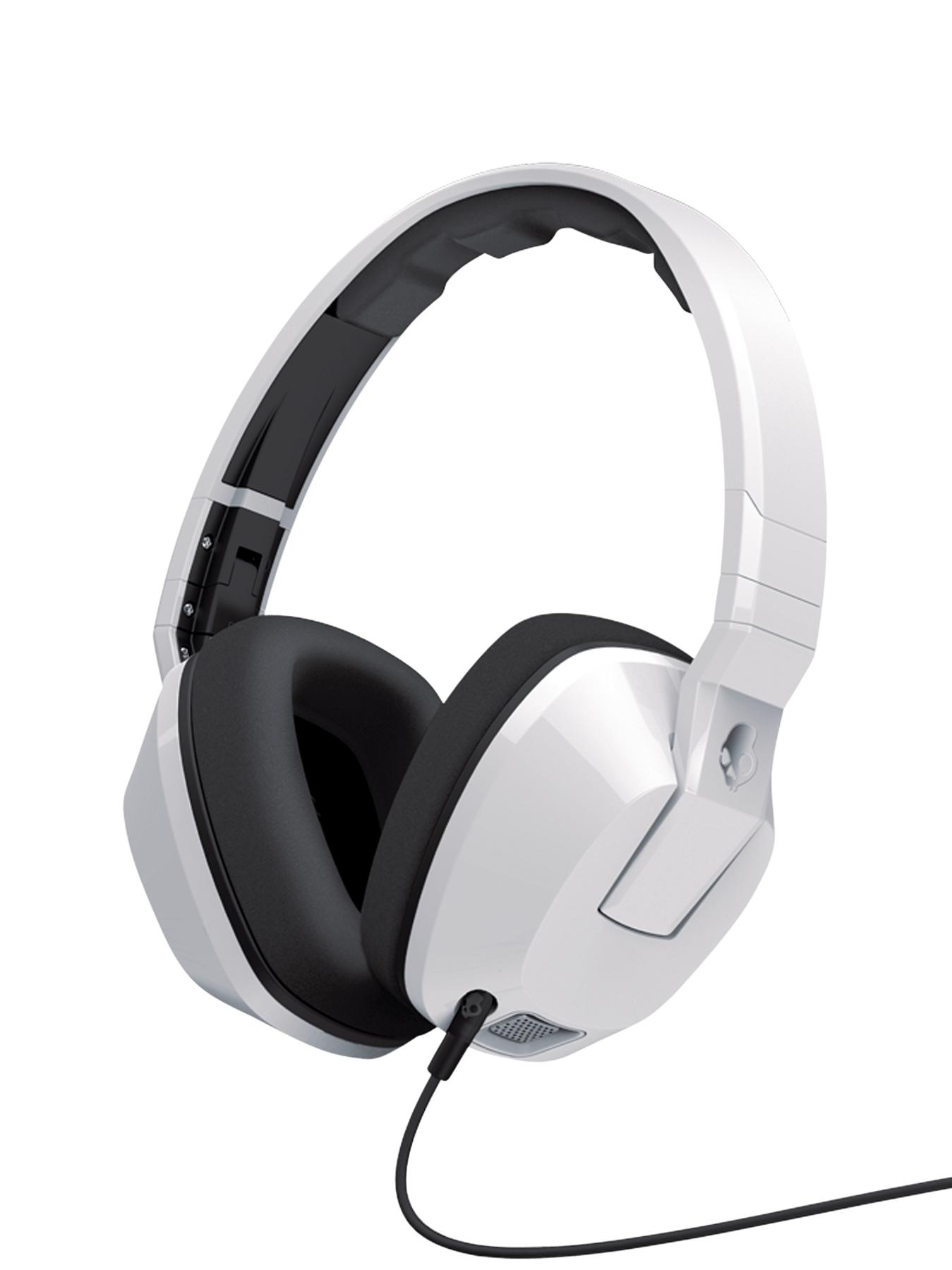 Crusher Over Ear Headphones with Mic and Remote - White