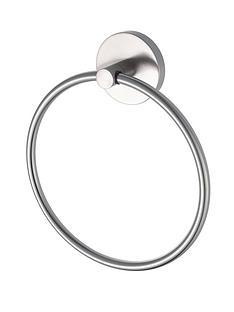 aqualux-haceka-pro2500-brushed-nickel-finish-towel-ring