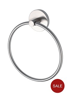 aqualux-haceka-pro2500-brushed-nickel-finish-towel-ring