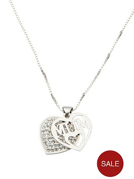 the-love-silver-collection-sterling-silver-crystal-set-mum-pendant