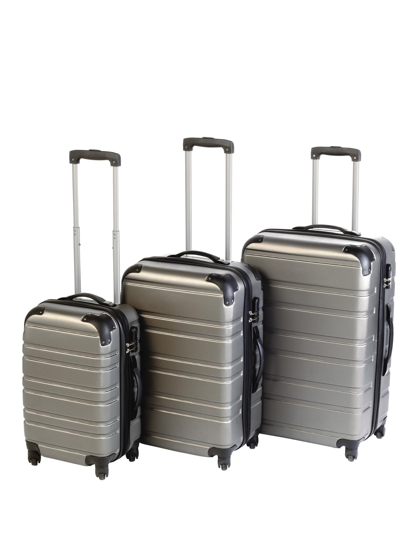 3-Piece ABS Luggage Set - Pewter