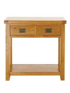 oakland-oak-2-drawer-console-table
