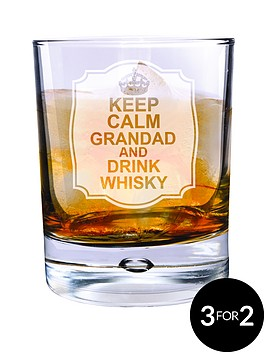 personalised-keep-calm-drink-whisky-bubble-glass