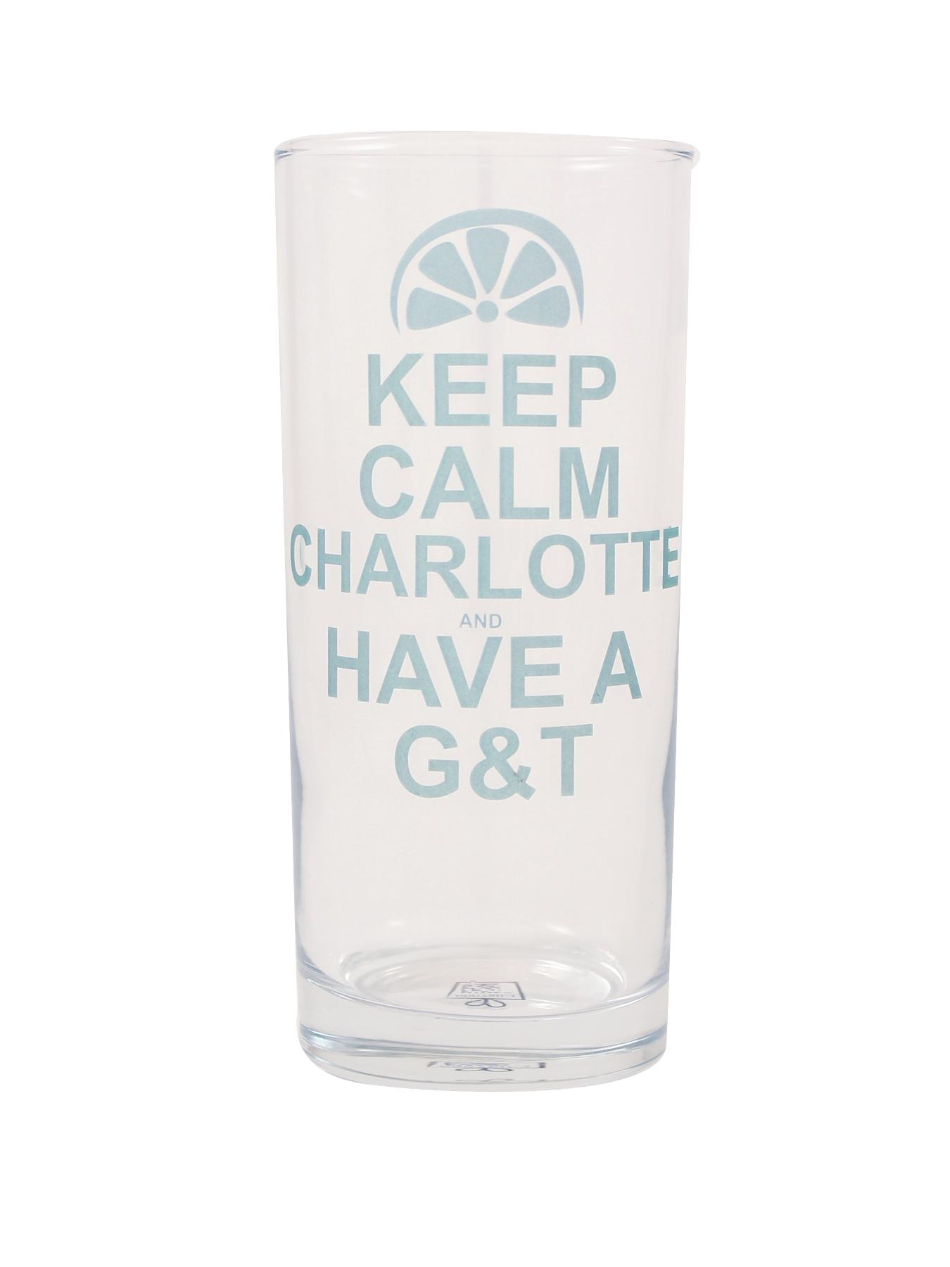 Personalised Keep Calm Have a G&T Glass