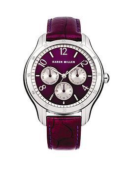 karen-millen-purple-multi-dial-and-purple-leather-strap-ladies-watch