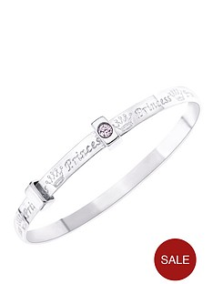 love-silver-sterling-silver-childs-expander-bangle-with-princess-message-set-with-pink-cubic-zirconia-stones