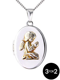 the-love-silver-collection-angel-locket-in-sterling-silver-with-a-yellow-rhodium-finish