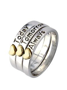 keepsafe-sterling-silver-and-gold-plated-hearts-three-part-ring-with-message-today-tomorrow-always