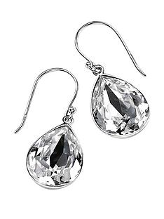 elements-sterling-silver-teardrop-clear-swarovski-crystal-drop-earrings
