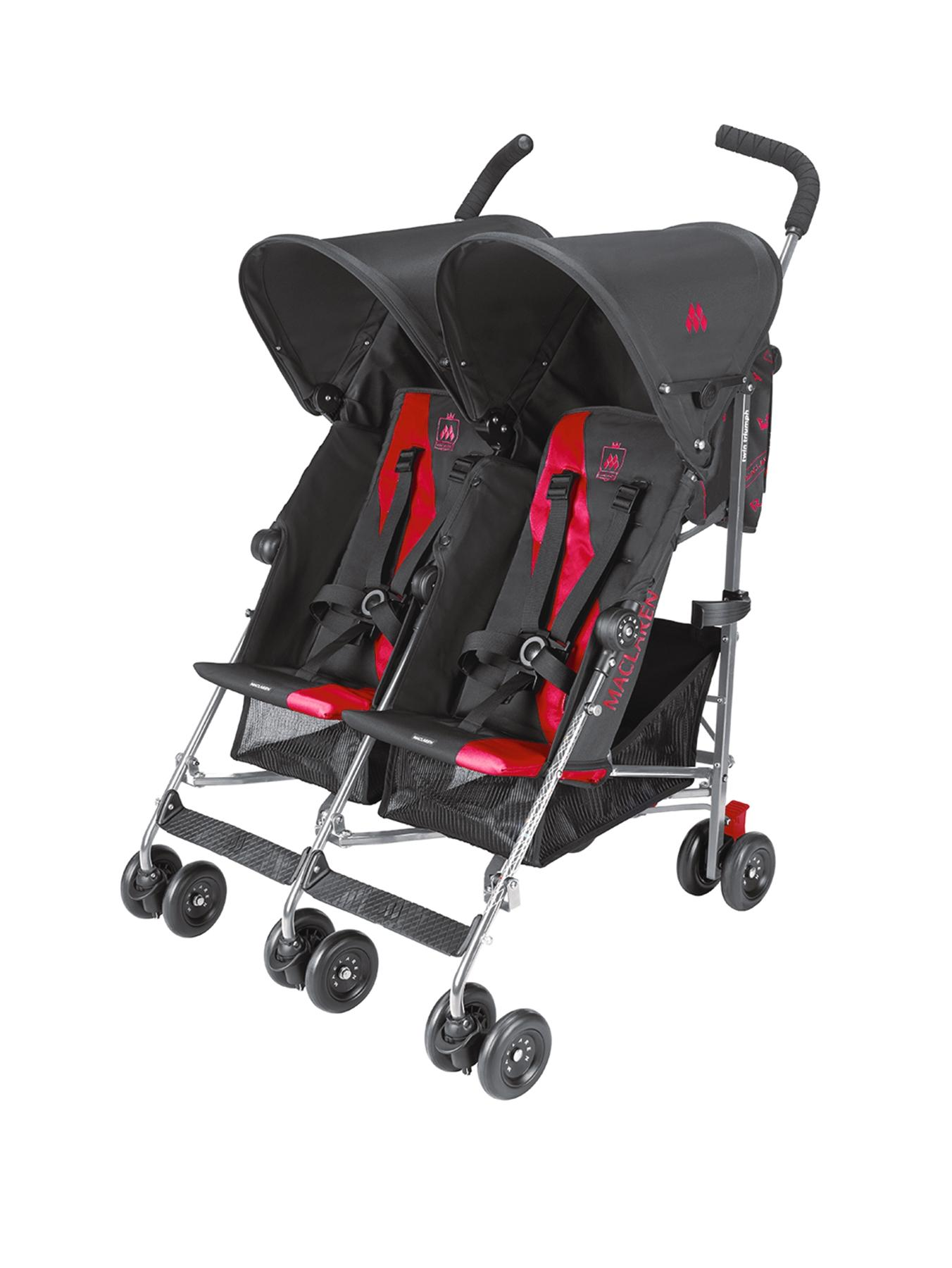 Twin Triumph Buggy, Black,Charcoal