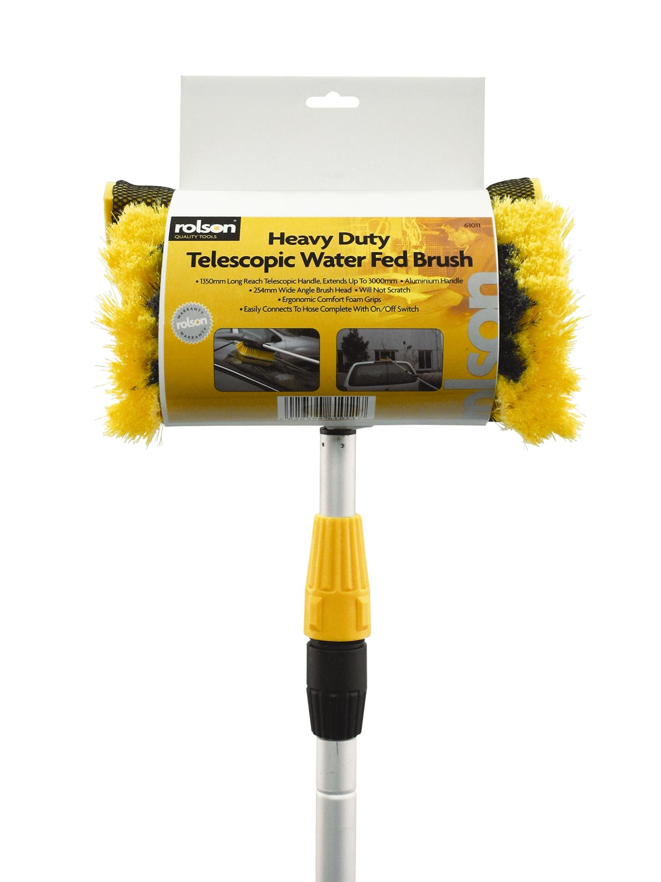 Water Fed Wash Brush 3m Tele Fed Brush with Squeegee