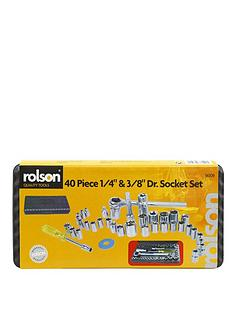 rolson-dr-socket-set-14-inch-and-38-inch-40-piece