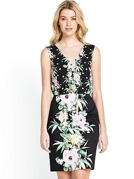 french-connection-desert-tropicana-cotton-wrap-dress