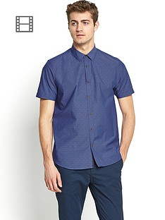 ted-baker-mens-short-sleeved-dobby-spot-shirt