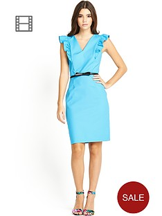 paper-dolls-frill-sleeve-dress-with-belt