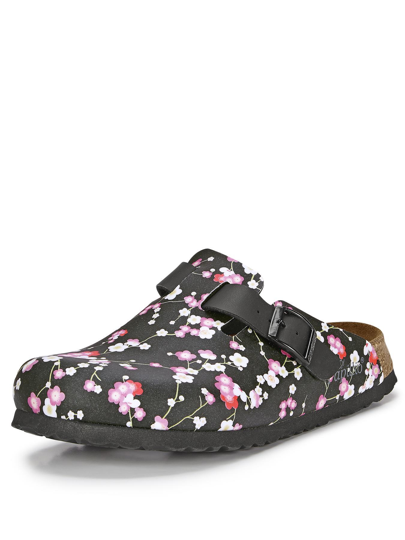 Boston Floral SlipOn Clogs suki black