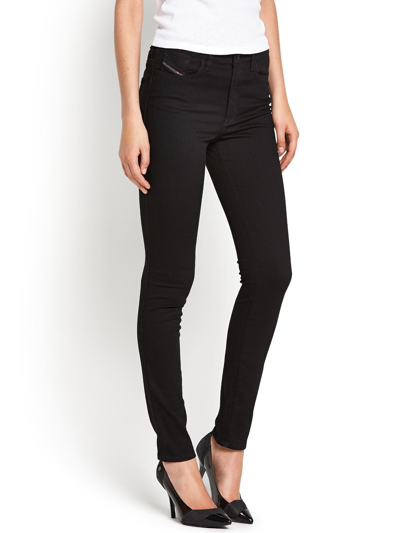 Skinzee High Skinny Jeans - Black, Black