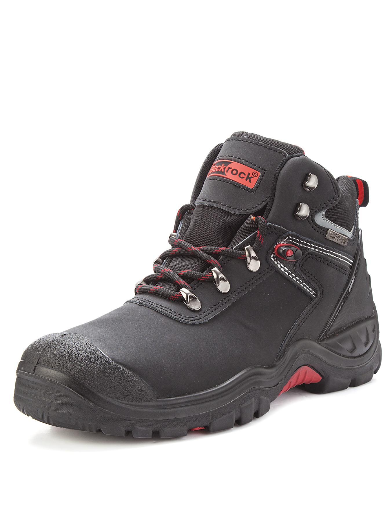 Tempest Waterproof Safety Boots, Black