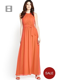 petite-contrast-back-maxi-dress