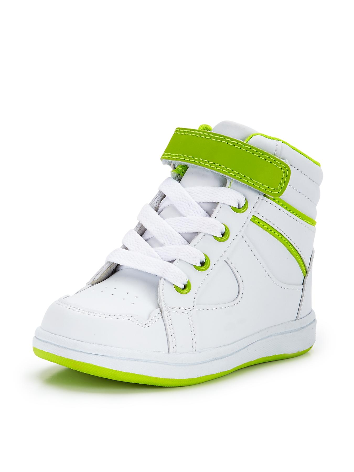 Rylan Toddler Hi-Top Trainers, White