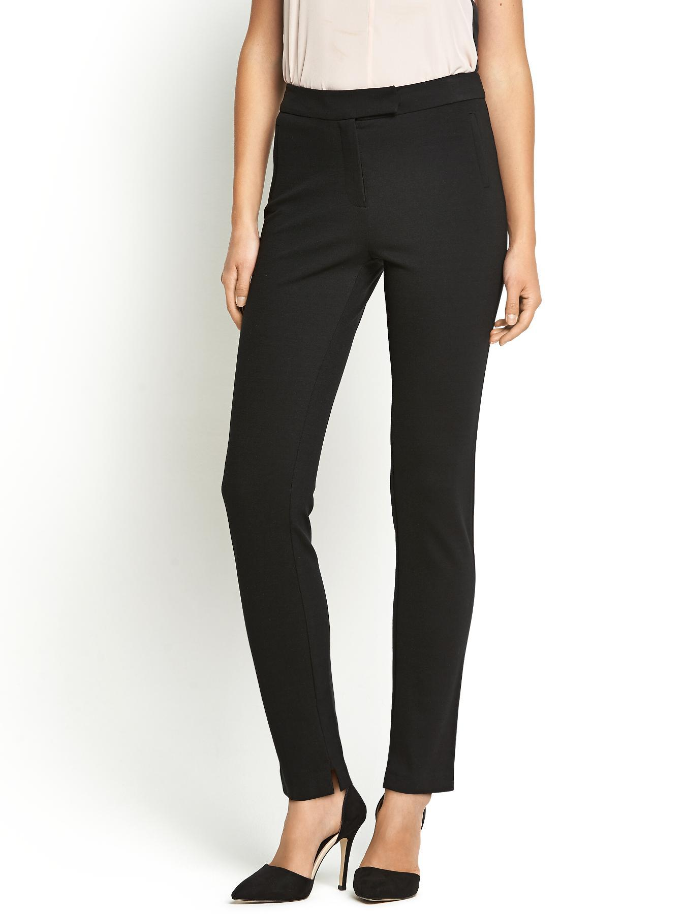 Ponteroma Essential Slim Trousers, Black
