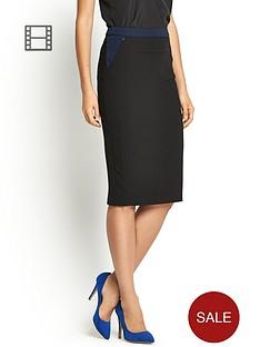 colour-block-mesh-skirt