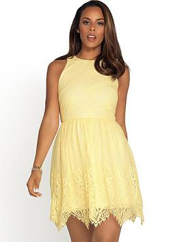 rochelle-humes-lace-gathered-waist-dress