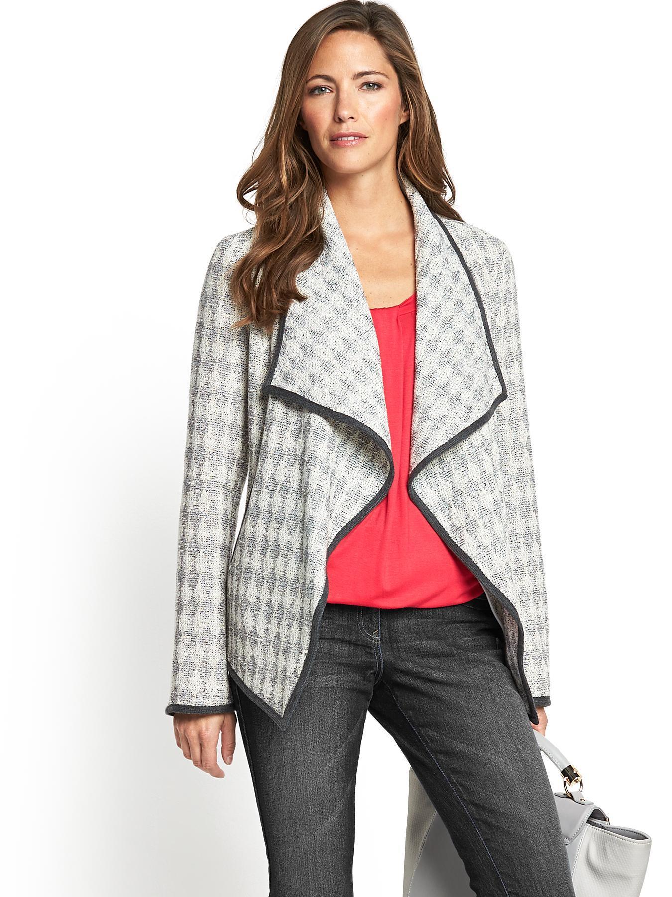Textured Waterfall Jacket