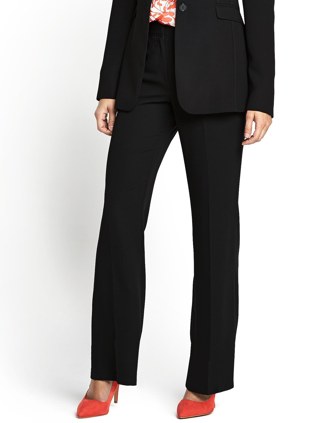 Rochette Straight Leg Trousers, Black