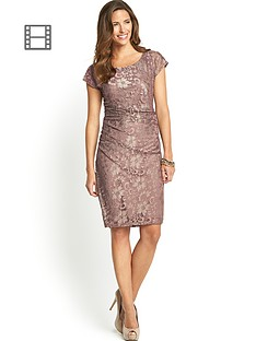 savoir-ruched-side-lace-dress