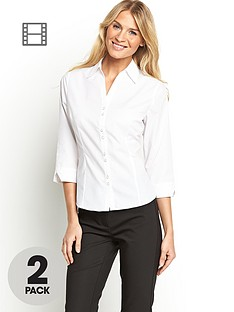 south-fitted-work-shirts-2-pack