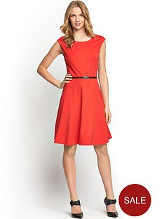 fit-and-flare-ponte-dress