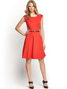 petite-fit-and-flare-ponte-dress