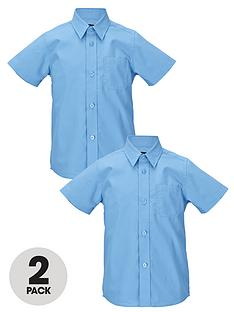 top-class-boys-short-sleeved-premium-non-iron-shirts-2-pack