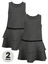 Girls RaRa Pinafore (2 Pack)