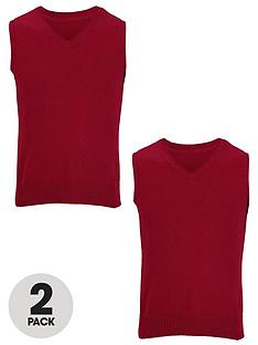 top-class-unisex-v-neck-slipover-jumper-2-pack
