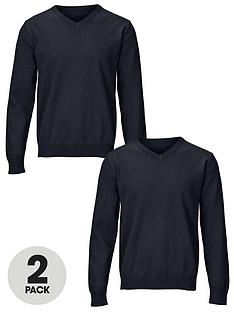 top-class-essential-cotton-v-neck-jumpers-2-pack